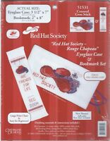 RED HAT SOCIETY Eyeglass Phone CASE & BOOKMARK Counted Cross Stitch Kit #51531