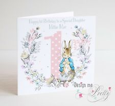 PERSONALISED PETER RABBIT Birthday Card - Daughter Granddaughter Girl 1 2 3 4 5