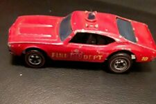 Vintage 1969 Redline Hot Wheels - Fire Department Chief - Red With Blue Tinted