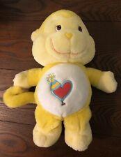 2004 Care Bear Cousins Playful Heart Monkey Yellow Stuffed Animal Plush Toy