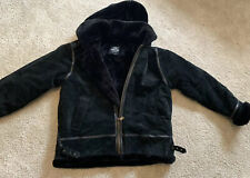 Men's Winter Leather Suede Jacket Size XL Black THE CONNECTION