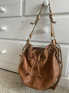 FOSSIL RICH TAN LEATHER BAG Great Condition