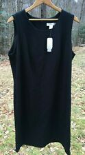women's black dress 16 W cjbanks with tags Ponte Knit fabric