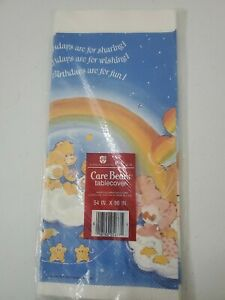 Vintage Care Bears Birthday American Greetings Table Cover Tablecloth Sealed