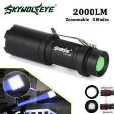 Super Bright Zoomable 2000LM CREE Q5 AA/14500 3 Modes LED Flashlight Torch Lamp