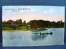 Postcard NJ Newark A Corner of the Lake Branch Brook Park 1915