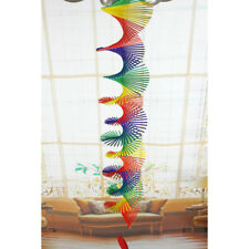 Rainbow Color Spiral Wind Twist Garden Park Tent Charm Hanging Spinner XL