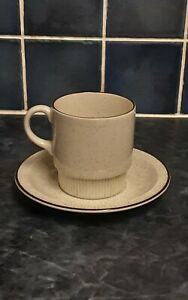 Mid-Century Poole Pottery Parkstone Cup & Saucer Speckled Oven & Dishwasher Safe