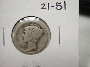 1921 Mercury Dime See Photo 21-51