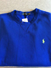 NWT RALPH LAUREN POLO CREWNECK FLEECE SWEATSHIRT ROYAL BLUE W/PONY LARGE TALL/LT