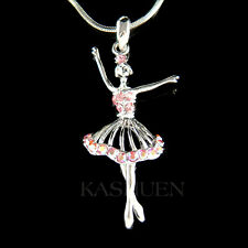 ~Pink BALLERINA made with Swarovski Crystal Ballet Crown Necklace The Nutcracker