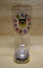 German Beer Boot Glass with State and Federal Coats of Arms
