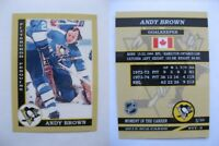 2015 SCA Andy Brown Pittsburgh Penguins goalie never issued produced #d/10