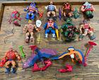 Lot Complete Figures Vintage He-Man MOTU Thunder Punch Screech Zodac Zoar Ramman