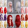 Colorful Anime Wig Women Ladies New Long Curly Wavy Layer Full Wig Fancy Dress