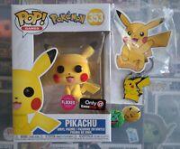 FUNKO POP! GAMES POKEMON FLOCKED PIKACHU GAMESTOP EXCLUSIVE #353
