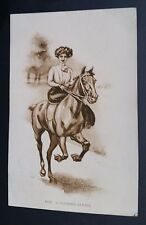 A Morning Cantor Young Lady on Galloping Horse Columbus Mississippi MS c.1910