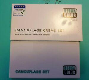 KRYOLAN Dermacolour 3 Colour Creme Camouflage palette- dc4, unused but bit messy