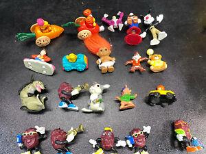 20 Vtg Mini Figure Lot 80s 90s Troll California Raisens Super Mario