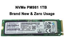 Samsung 1TB 2280 PM981 M.2 Internal SSD NVMe MZ-VLB1T00 PCIe 3.0 x4 f/ ultrabook