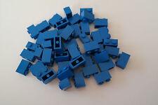 50 Lego Bausteine 1x2 blau NEU Grundsteine Basic Steine 3004