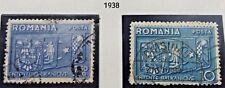 2 X Timbre Stamp Roumanie Romania 1938 YT 530 531 Oblitérés Entente balkanique