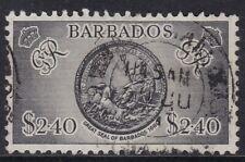 BARBADOS  1950 $2.40 BLACK, CDS USED, CAT £42