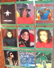 MICHAEL JACKSON Trading Cards History PANINI 1996 x 9 GREEN Borders Holog. SET 5