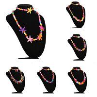 Girls Necklace&Bracelet Set Party Jewelry Bangle Children Gift 6 Type RAS<