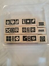 2004 Stampin Up! Suitable For Framing Wood Mounted Rubber 9 Piece Stamp Set