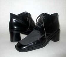 EUC MARC O'POLO UK 5 8 laced ankle boots leather & fabric upper Vintage inspired