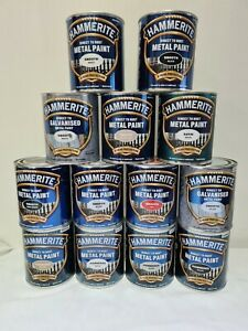 HAMMERITE Direct To Rust Metal Paint 250/750ml All Colours Hammered Smooth Satin