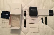 Philip Stein Teslar WATCH Extra Band Original Papers and Box *RARE* New Battery!