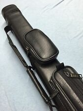 J&J Black 2 Butt 3 Shaft 2x3 Cue Case Super Value With Free Shipping