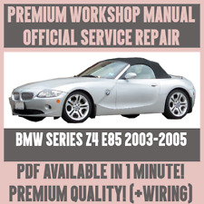 *WORKSHOP MANUAL SERVICE & REPAIR GUIDE for BMW Z4 E85 2003-2005 +WIRING DIAGRAM
