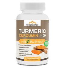 Turmeric Curcumin with BioPerine Black Pepper Extract 1400mg