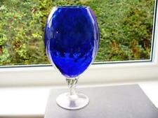 Cobalt Vase Vintage Original Art Glass
