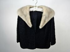 Vintage Ribbon Knit Bolero Jacket w/Detachable Mink Fur Valaure Furs Detroit