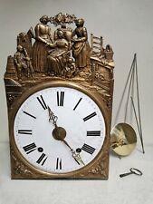 Ancien Mécanisme de Pendule Horloge Comtoise