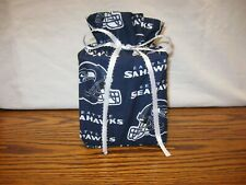Nfl Seattle Seahawks, blue Cotton Fabric Handmade square Tissue Box Cover