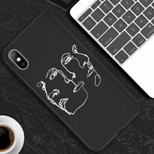 Fashion Abstract Couple Phone Case Black White Cover Skin For iPhone Xs Max 8 6