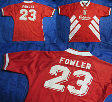 Robbie FOWLER #23 The Reds FC LIVERPOOL 1993-95 home shirt jersey ADIDAS SIZE L