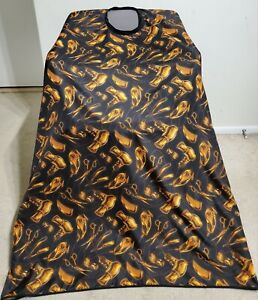 "High quality Barber hair cuting and styling cape 57""X62"" Black & Gold Color"