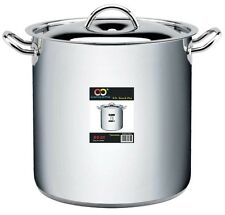 CONCORD 80 QT Stainless Steel Stockpot 3-Ply Bottom w/Lid & Steamer Insert