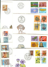 7 LETTRES FDC SUISSE ANNEE COMPLETE 1975