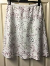 WHITE STUFF skirt size UK 10 patterned Embroidered Casual holiday Smart party