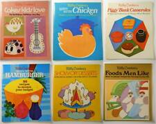 BETTY CROCKER'S SET 6 COOKBOOK PAMPHLETS DESSERTS HAMBURGER CASSEROLES CHICKEN