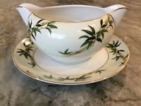 Bali Hai by Kent GRAVY BOAT WITH ATTACHED UNDERPLATE, Made in Japan