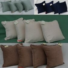 4 x  Chenille Cushion Covers + Fillers Colours : Navy, Meadow, Cream and Latte