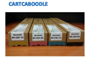 4 x Sharp MX-23GT-BA MX-23GT-CA MX-23GT-MA MX-23GT-YA Toners - FULL SET - BCMY